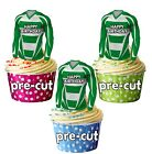 PRECUT Birthday Football Shirts Edible Cake Toppers Decorations Yeovil Colours