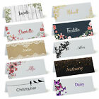Personalised Place Cards, Table Name Cards for Weddings, Parties from £1.29