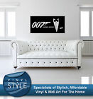 JAMES BOND 007 MOVIE DECAL DECOR STICKER WALL ART VARIOUS COLOURS $21.02 CAD on eBay