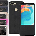 Shockproof Luxury Leather Window S-View Magnetic Flip Case Cover For OnePlus 5T