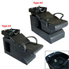Black Portable Backwash Barber Chair Beauty Salon Spa Shampoo Bowl Equipment NEW
