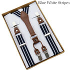 Men Suspender Braces Y-Back Clip-On Suspenders Mens Luxury Business Accessories
