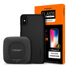 For iPhone X / 8 / 8 Plus Spigen® Wireless Charger+Case+Screen Protector Bundle