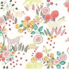 childrens animal wallpaper - Reverie Wallpaper WK6971 kids animals flowers SureStrip washable prepasted