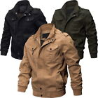 Men's Air Force Military Jacket Stand Collar Coat Tactical Casual Outwear Exotic