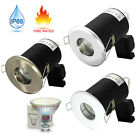 1x 10x Fire Rated & IP65 GU10 Downlight Bathroom LED Recessed Ceiling Spot Light