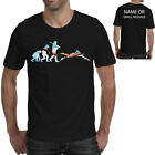 Evolution of Swimming Personalised T-Shirt Funny Gift Ape to Man Swimmer Sport