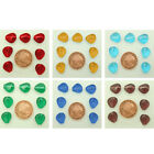 20 Czech Glass Triangle Jelly Look Beads, Multiple Colours size 12x11x6mm