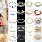 New Nice Women Crystal Gold/Silver Plated Chain Bangle Bracelet Jewelry Lot