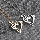 Fashion Luxury Women Men Love Hollow Music Notes Necklace Long Sweater Pendant