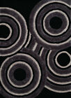 """United Weavers Finesse Records Black Area Rug  5'3"""" X 7'2"""""""