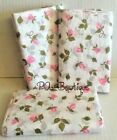 "Pink Cottage Rose Flowers on White Tissue Paper for Gift Wrapping 15""x20"" Sheets"