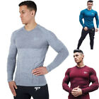 New Fashion Polyester T Shirt Men O-Neck Slim Fit Long Sleeve Casual T-Shirt