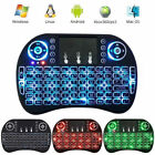 Mini 2.4G Backlit Wireless Keyboard and Mouse Combo with Touchpad for PC Android