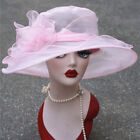 Occasional Kentucky Derby Wide Brim Womens Organza Sun Hats Church Wedding A002 фото