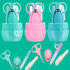 4 in 1 Baby Kids Health Care Nail Grooming Manicure Kit Clipper Scissor Tweezers