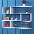 Wall Mount Pigeon Hole Cube Shelving Unit Wooden Spice Rack Herb Wooden Shelves