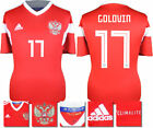 GOLOVIN 17 - RUSSIA HOME 2018 WORLD CUP ADIDAS SHIRT SS = ADULTS