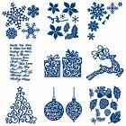 CHRISTMAS FESTIVE Tattered Lace Metal Dies Stephanie Weightman Craft Cut Card