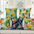 "Decorative Square Burlap Fruit Design Throw Pillow Case Cover Cushion 18""x 18"""