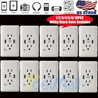 Внешний вид - LOT Dual USB Port Wall Socket Charger AC Power Receptacle Outlet Plate Panel USA