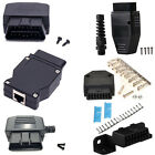 Universal 16 Pin OBD2 Terminal Connector Plug Shell Adapter Diagnostic Tool