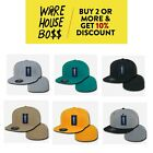 DECKY RP1 MENS PLAIN HAT FLAT BILL BASEBALL HATS CASUAL FITTED CAP BASIC CAPS
