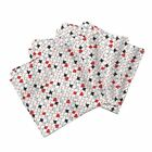 Red Black Hearts Diamonds Clubs Cotton Dinner Napkins by Roostery Set of 4