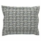 Snow Leopard Leopard Wood Pine Wild Cat Zoo Wildcat Pillow Sham by Roostery