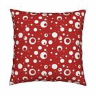 Betty Boop Red White Polka Dot Throw Pillow Cover w Optional Insert by Roostery $37.0 USD