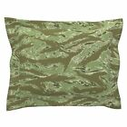 Desert Tiger Stripe Camo Pillow Sham by Roostery