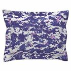 Purple Digital Camo Pillow Sham by Roostery