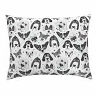 Drawing Black And White Boy Adorable Chihuahua Dogs Pillow Sham by Roostery