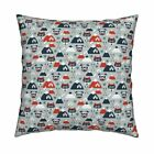 Fox Retro Goggles Ski Winter Throw Pillow Cover w Optional Insert by Roostery
