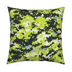 Zombie Camo Digital Neon Green Throw Pillow Cover w Optional Insert by Roostery