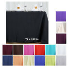 "Внешний вид - 72x120"" Polyester Rectangle Tablecloths For Wedding Party Banquet Events"