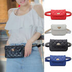 Women Casual PU Leather Waist Bag Chain Fanny Fanny Pack Travel Belt Purse