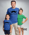 Big Man Little Man Mustache Father Dad Son Daddy Daughter Matching T shirts