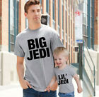 Big Jedi Little Jedi Father Dad Son Daddy Daughter Family Matching T shirts