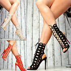 Neu Luxus High Heels Ankle Pumps Peep Toes Damenschuhe Club Party SeXy Gladiator