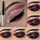16 Colors Waterproof Metallic Shiny Smoky Eyeshadow  Liquid Eyeliner