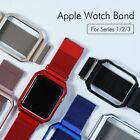 Milanese Stainless Mesh Watch band Strap+Frame For Apple Watch iWatch 38mm 42mm