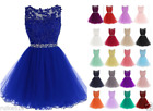 Short Organza Homecoming Cocktail Evening Dress Formal Pageant Prom Party Gown