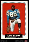 1964 Topps #157 Earl Faison Chargers VG/EX $3.25 USD on eBay