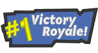 E0279 EMBROIDERED COSPLAY MORALE GAME PATCH FORTNITE VICTORY ROYALE BADGE
