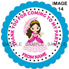 Personalised Party stickers For Sweet Cones etc, 3 Sizes - Ref 14-08A