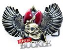 Gothic 3D Skull & Wings belt buckle -  Gothic/Bikers Buckle  - Fits Snap on Belt