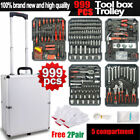 Tool Set Standard Metric Mechanics Kit Case Box Organize Castors Trolley