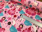 princess unicorn castle linen look quilting upholstery fabric
