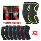 Neoprene Knee Brace Support Pad Guard Arthritis Pain Gym Sports Protector X2